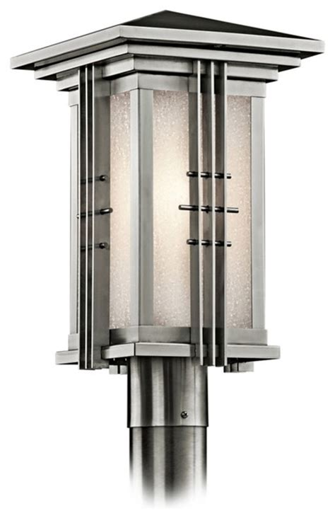 Houzz Outdoor Lighting Contemporary Kichler Stainless Steel 16 1 2 Quot High Outdoor Post Light Contemporary Outdoor