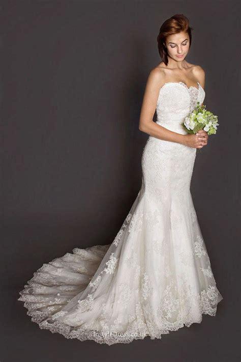 Neck Strapless Kb 005 mermaid strapless backless floor length fashion lace wedding dress instyledress co uk