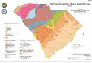 carolina resources map general geology of south carolina