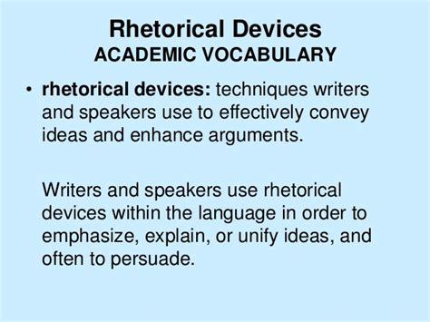 exle of rhetoric rhetorical devices