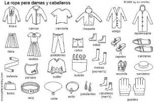 8 best images of spanish clothing printable worksheet
