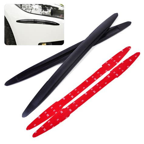 2pcs Car Front Rear Edge Bumper Corner Guard Scratch Protection Decora new 2pcs black pvc rubber front rear bumper edge protector corner guard anti rub scratch sticker