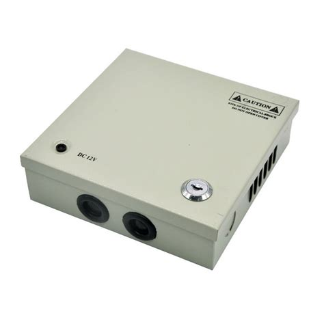4 channel 12v 3a 36w cctv power supply box for cctv silver free shipping dealextreme