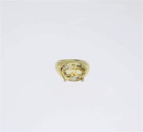 beautiful citrine diamonds gold ring for sale at 1stdibs