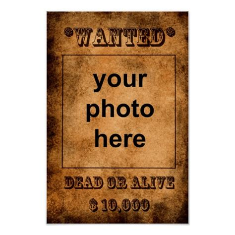 wanted dead or alive poster template free wanted dead or alive poster template zazzle co uk