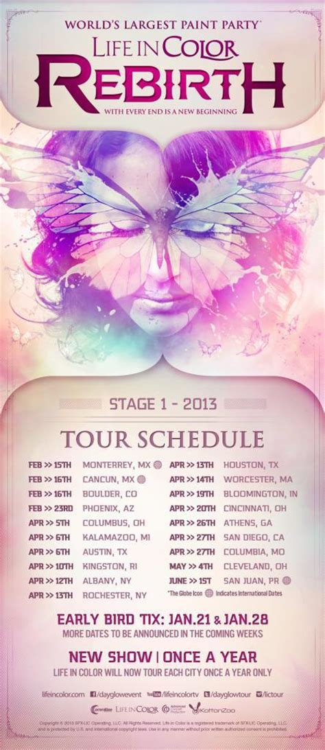 in color tour in color formerly dayglow announces 2013 rebirth