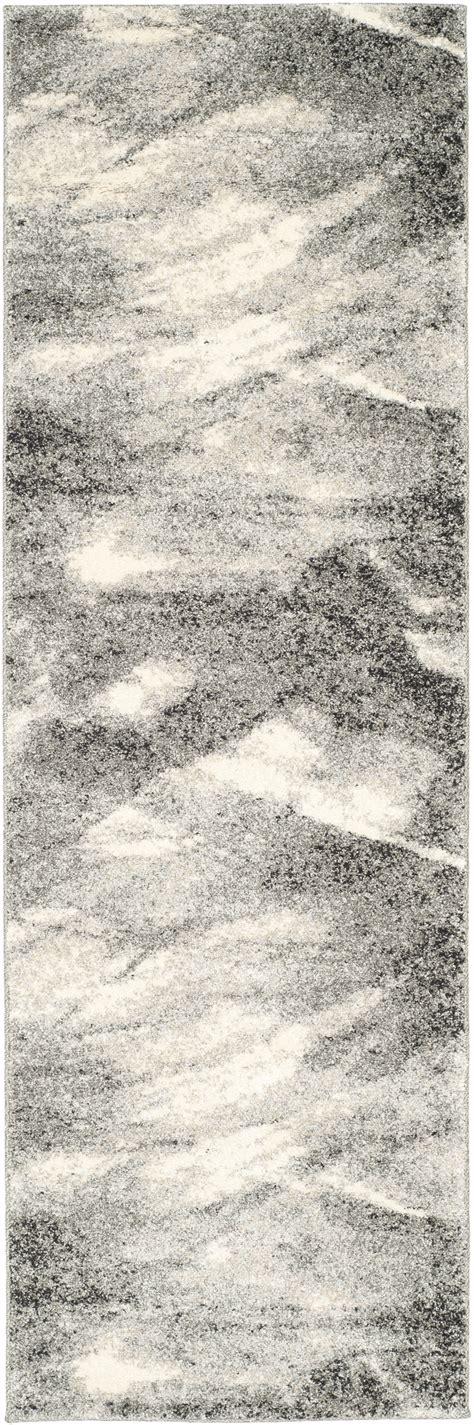 Safavieh Retro - safavieh power loomed retro ivory grey area rugs