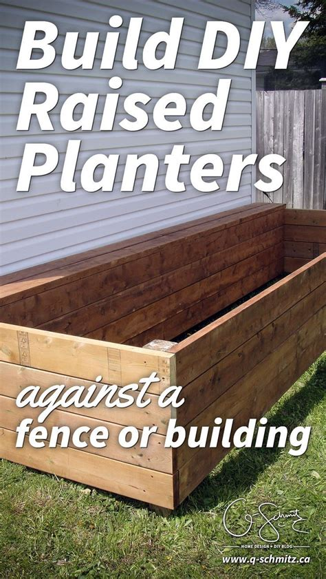 Building A Planter Box Against House by 25 Best Ideas About Raised Flower Beds On
