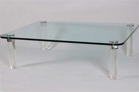 Chrome Coffee Table Legs Pace Cocktail Table With Chrome Capped Lucite Legs At 1stdibs
