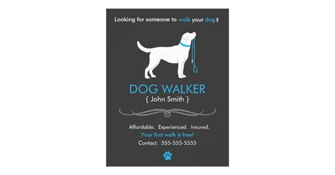 Dog Walker Walking Business Flyer Template Zazzle Walking Business Flyer Template