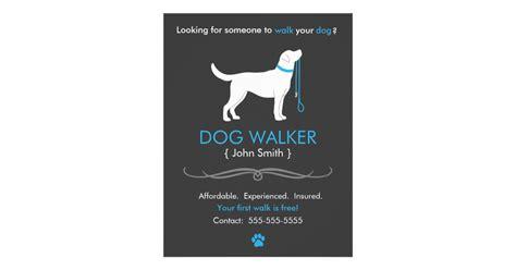 walker flyer template walker walking business flyer template zazzle