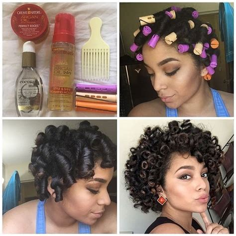 curling rods for short natural hair by actually ashly heatless curls products used
