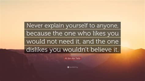 ali ibn abi talib quote  explain