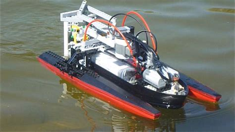 lego boat remote lego nxt boat youtube