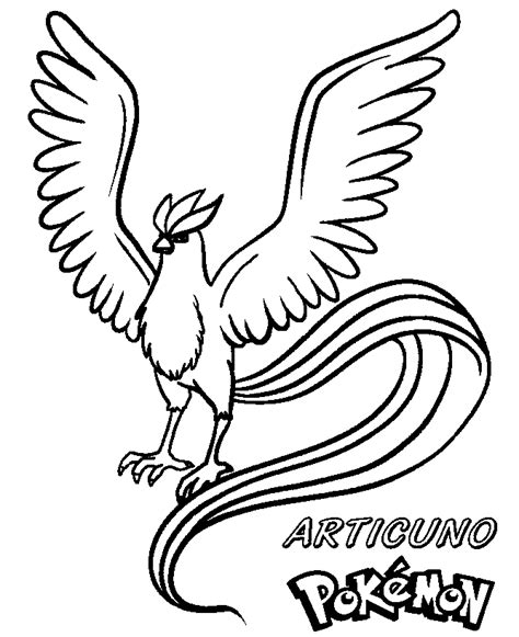 coloring books pokemon articuno print free download