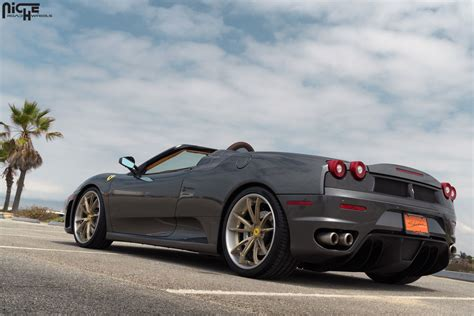 f430 wheels drop the top with this f430 spider and niche wheels