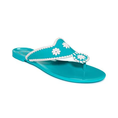 jelly sandals lyst rogers jr jelly sandals in blue