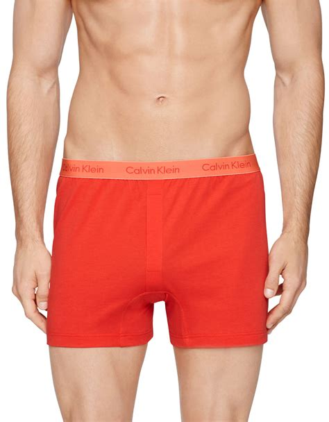 calvin klein knit boxers calvin klein slim fit knit boxer shorts in for lyst