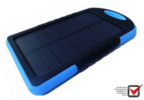 Power Bank Solar Guard solar panel power bank blauw isurvive 174 cingwinkel
