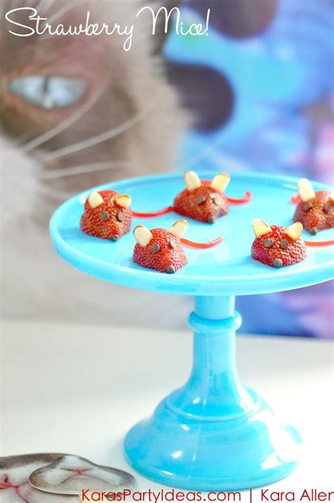 kitty themed birthday party strawberry mice for a cat kitty themed birthday party