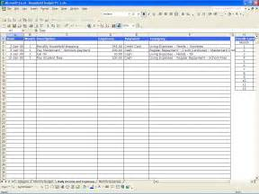 Spreadsheet For Household Expenses Household Budget Excel Templates