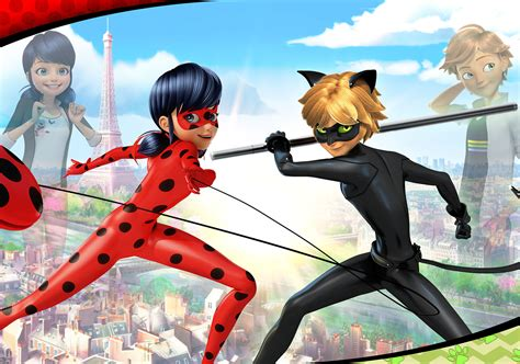 Anime Tv Shows by Heroes Ladybug Cat Noir Arrive On Nickelodeon