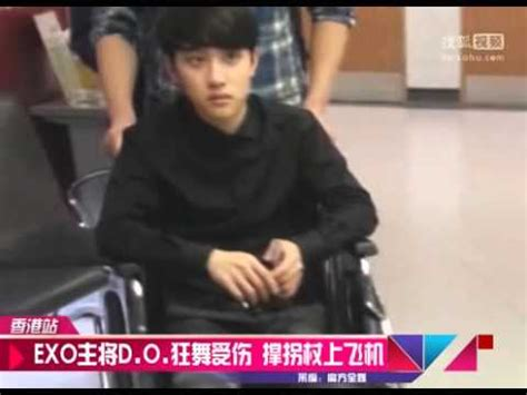 exo hurt exo d o kyungsoo news ankle injury 131124 youtube