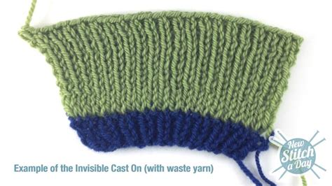 invisible cast on how to knit the invisible cast on new stitch a day