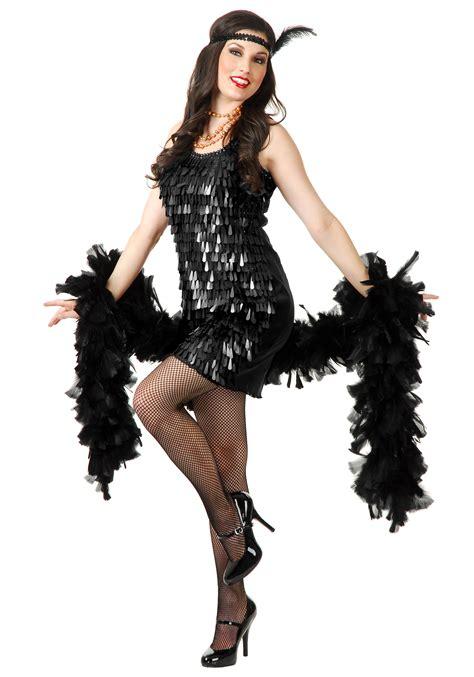 costume flapper flapper roaring costume ideas 1920s era costumes black tear drop flapper costume for women
