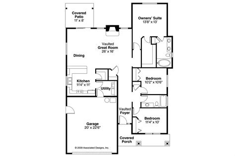 craftsman home floor plans craftsman house plans westwood 30 693 associated designs
