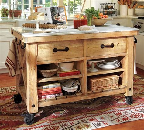 kitchen islands pottery barn 12 freestanding kitchen islands the inspired room