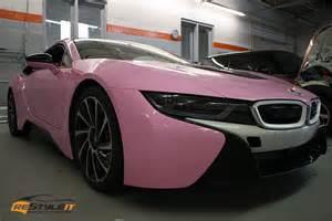 Bmw I8 Pink Gloss Pink Bmw I8 Vehicle Customization Shop Vinyl Car