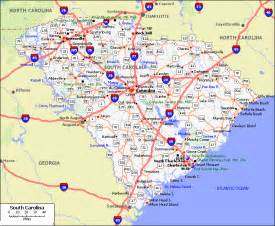 road map of carolina and south carolina south carolina map