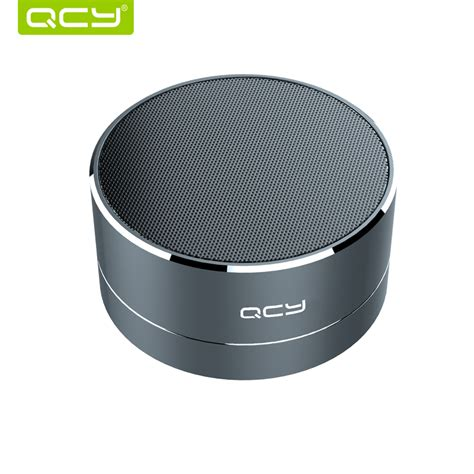 qcy a10 wireless bluetooth speaker metal mini portable subwoof sound with mic tf card fm radio