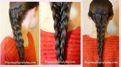 elastic mermaid braid hairstyle youtube
