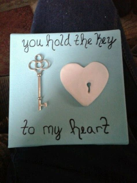 Handmade Craft Ideas For Boyfriend - key to my diy gift for boyfriend gift ideas