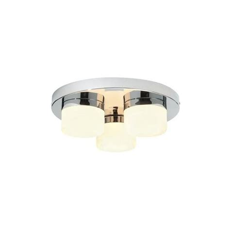chrome and opal glass flush fitting bathroom ceiling light ip44 endon lighting 3 light flush bathroom ceiling fitting in polished chrome finish with matt