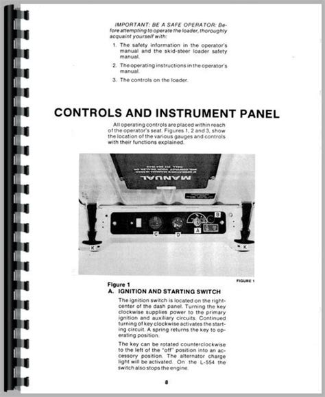 New Holland L554 Skid Steer Operators Manual