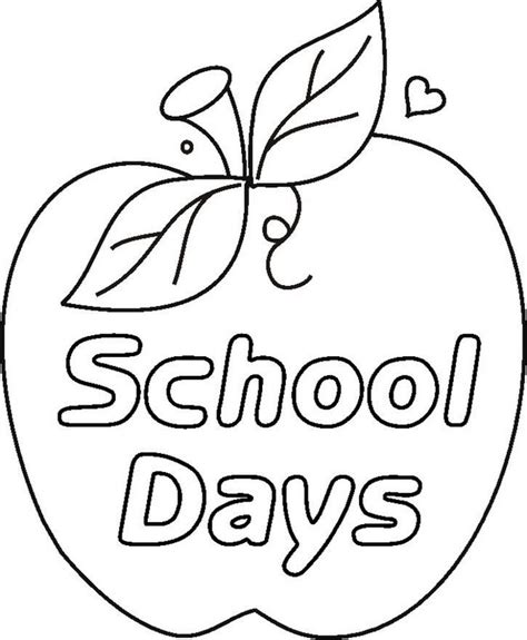 School Coloring Pages Coloringpages1001 Com School Coloring Pages