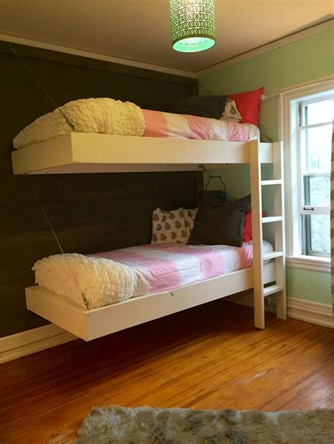 floating bunk beds  desk    home projects