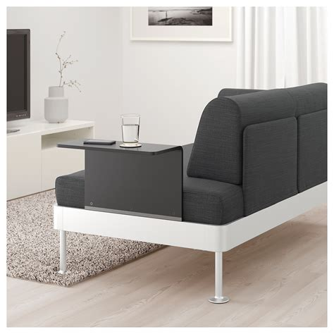 sofa side table ikea delaktig 2 seat sofa with side table hillared anthracite