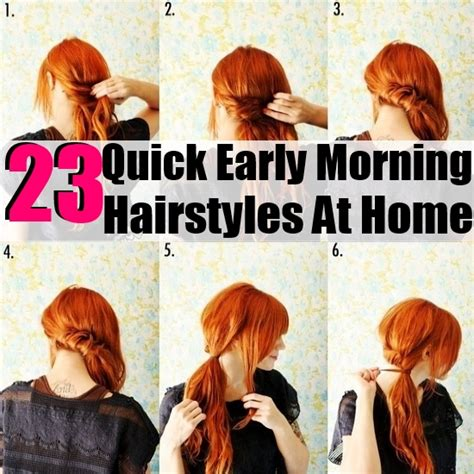 quick and easy hairstyles at home 23 quick early morning hairstyles at home diy home things