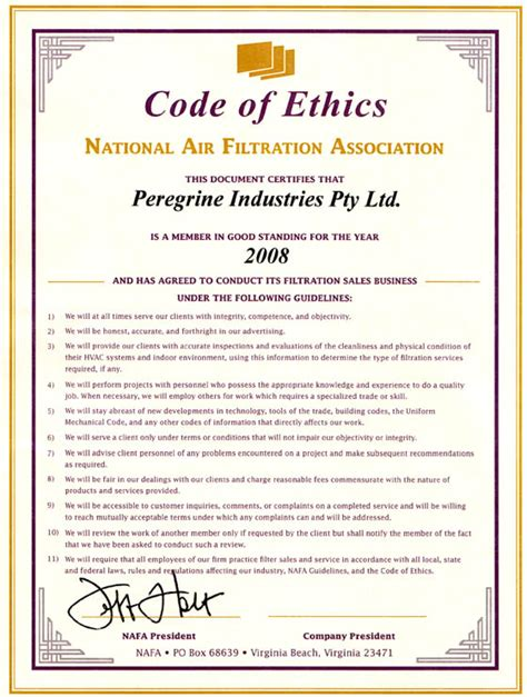 28 business code of ethics template professional