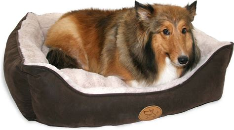 chewy supplies best pet supplies faux leather square pet bed x large brown chewy