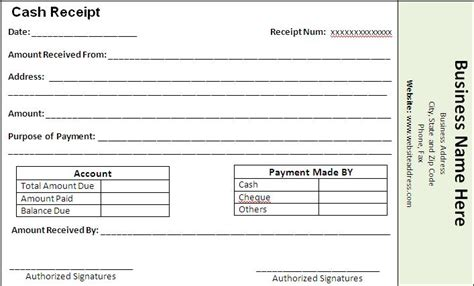 template for receipts of payment receipt templates free word s templates