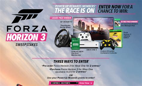 Mail In Sweepstakes List - contest and gift list for fh3 horizon 3 discussion forza motorsport forums
