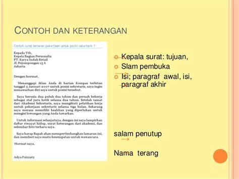 Contoh Tulis Surat Di Dpn Lop by Contoh Surat Lamaran Bagian Spg Kotasurat
