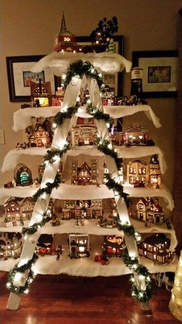 christmas village ladder display 60 of the best diy decorations kitchen with my 3 sons