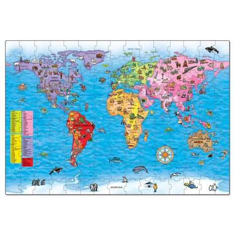 printable map puzzle of world world map puzzle poster