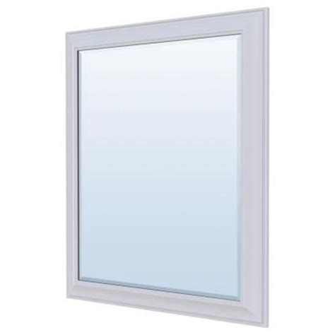 36 x 30 mirror for bathroom masterbath 36 in l x 30 in w wall mirror in satin white